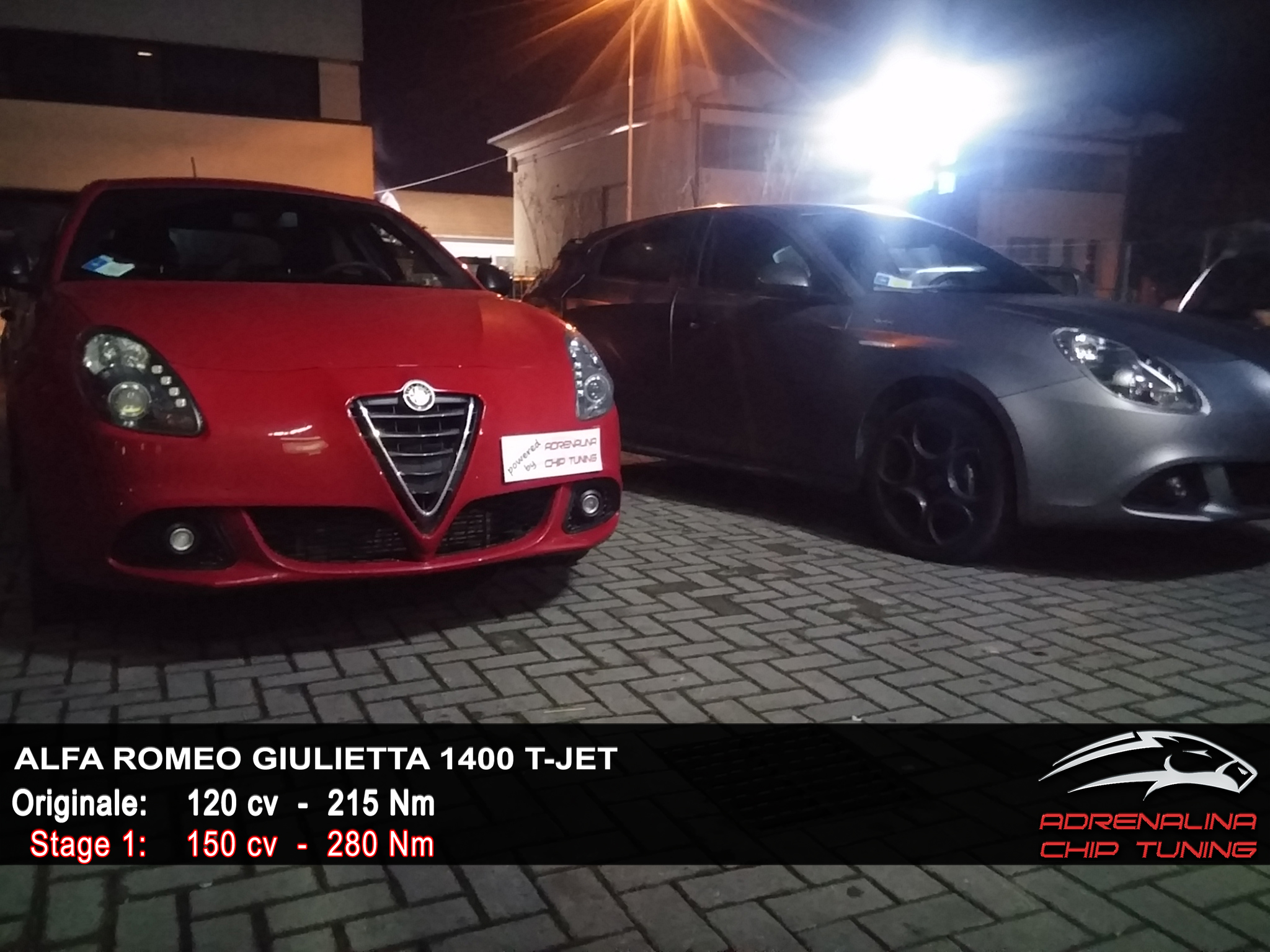 Alfa Romeo Giulietta 1400 TJET 120 GPL  2015  Adrenalina Chip Tuning
